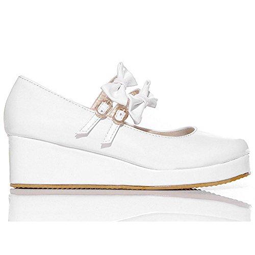 Coolcept Zapatos de Tacon Cuna para Mujer White-1