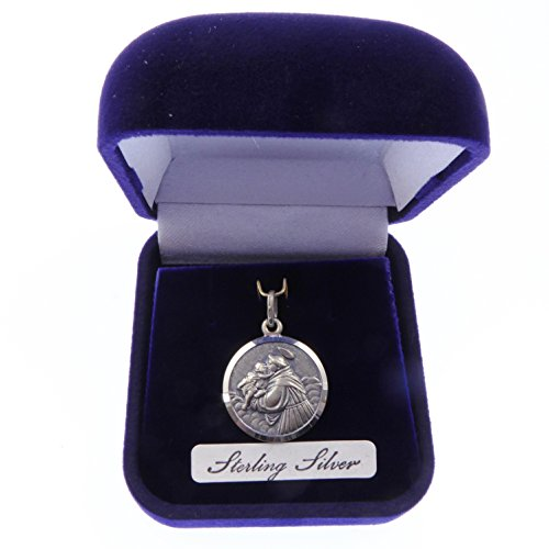 Rosary Heaven Sterling Silver St. Anthony Gift Boxed Medal 16mm