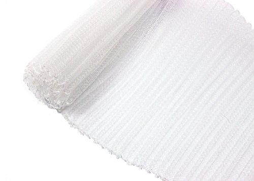 Pleated Crinoline Horsehair Braid for Millinery 6 Wide - White - Sold by The Yard