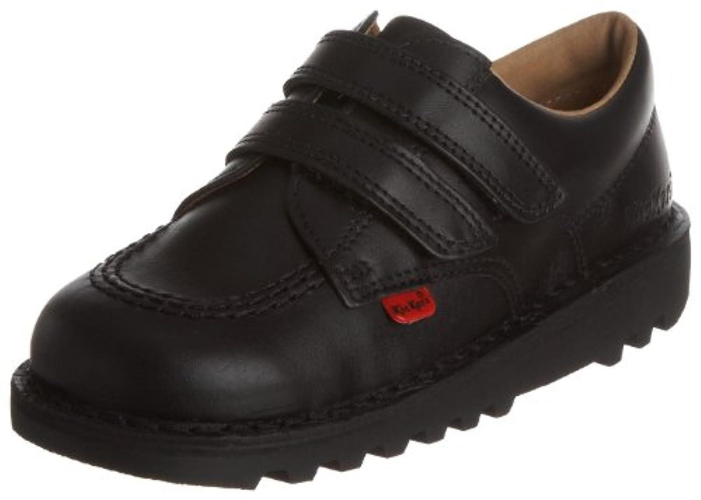 Kickers Kick Lo Vel Boys' School Shoes - Black, 5 UK (22 EU)
