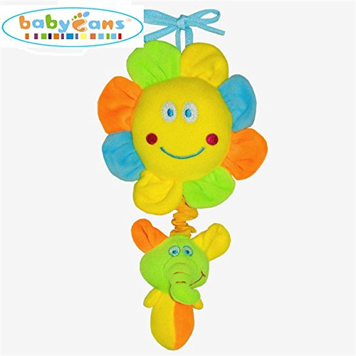 Baby Kid Lovely Moon Sunflower Music Violin Bed Rattle Plush Toy Gift Sunflower