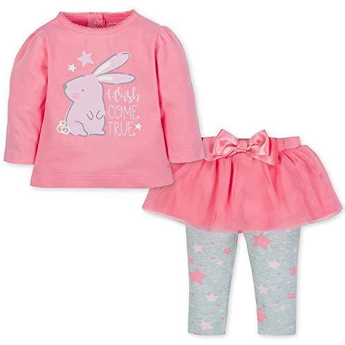 Bunny Clothes For Girls (GERBER Girl's Standard Shirt and Tutu Legging Set, Bunny,)