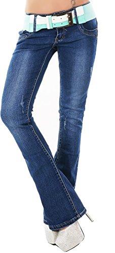 Pantaloni Girl Cut Donna Tinta Vivi Jeans Boot unita gffwx7n1Cq