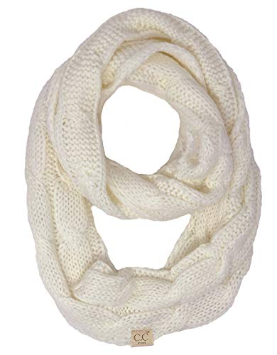 SK-6847-25 Kids Infinity Scarf - Solid Ivory