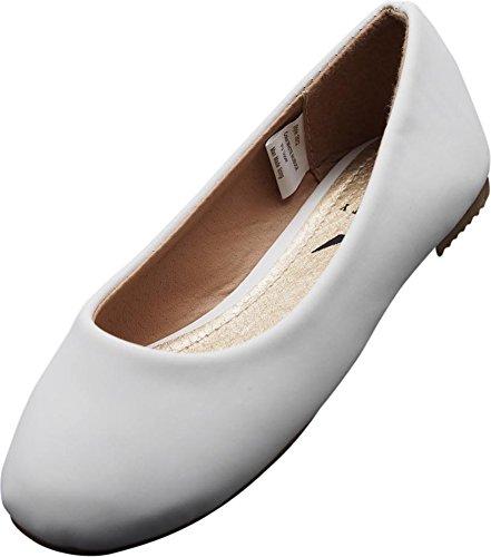 NORTY - Little Girls Nubuck Ballet Flat, White 40084-2MUSLittleKid -