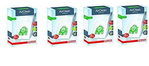 Miele AirClean 3D Efficiency Dust Bag, Type U, 16 Bags & 8 filters