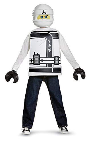 Disguise Zane Lego Ninjago Movie Classic Costume, White, Medium (7-8)]()