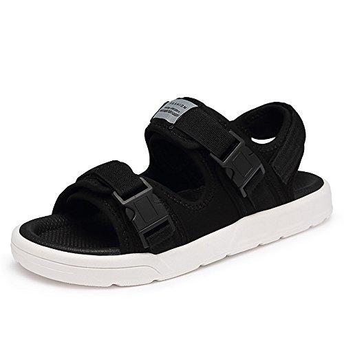 Romanas Adecuado Punta para cómodas Sandalias Slip Deportes para Ocio Sandalias de Sandalias Black de Ajustables Deportes Hombres Ocasionales Abierta Verano OZrYq67O