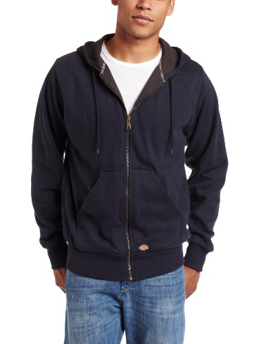 Dickies Men's Thermal Lined Fleece Jacket, Dark Navy, X-Large (Mens Sweatshirts Dickies)
