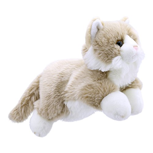 The Puppet Company Full-Bodied Animal  Hand Puppets Cat Beige and White
