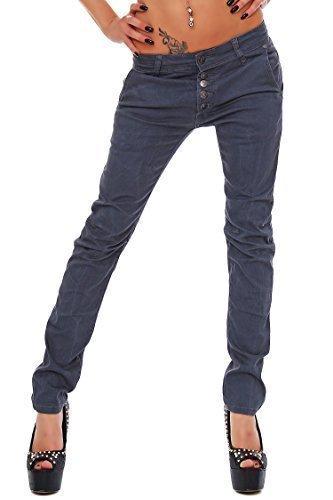Adrexx Trendy PANTALÓN Vaquero Mujer Pantalones Cintura Baja ...