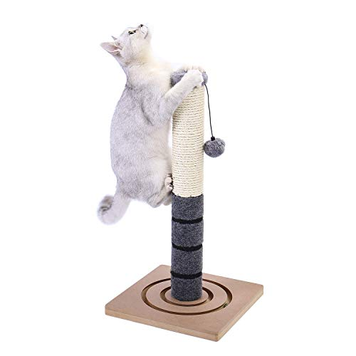 PAWZ Road Cat Scratching Post Cat Interactive Toys – Extra Post and Dangling Ball Included- 22 inches