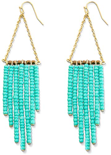 Turquoise Earrings - Turquoise Jewelry for Women 14k Gold Bohemian Earrings Dangle Earrings for Women Summer Earrings Tassel Earrings for Women Beaded Dangle -