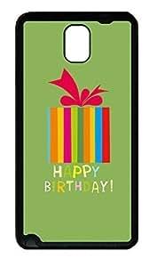 Samsung Note 3 Case Happy Birthday TPU Custom Samsung Note 3 Case Cover Black doudou's case
