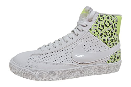 NIKE Womens Blazer mid PRM hi top Trainers 403729 Sneakers Shoes (US 5.5, White Ghost Green Pure Platinum 105) by NIKE (Image #2)