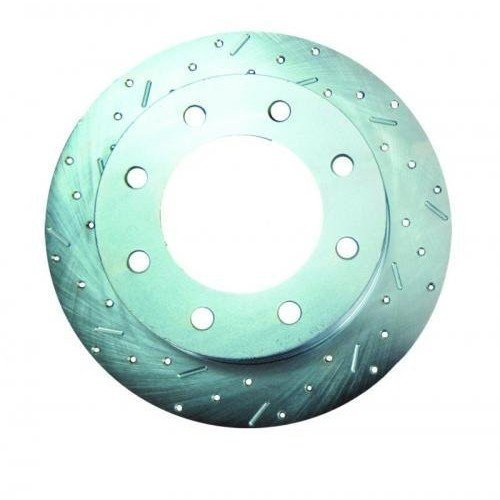 SSBC 33161AA3L Drilled Slotted Plated Rear Driver Side Rotor for 1982-86 733i, 735i E23 (E23 Chassis)