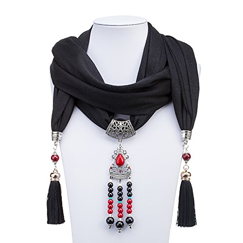 ysiop-polyester-scarf-necklace-bohemia-pendant-for-women-black