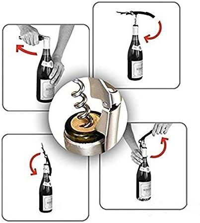 shenlanyu Sacacorchos 5 Piezas Abridor De Botellas Parrot Sacacorchos De Acero Inoxidable para Vasos Enlatados De Vino Tinto Botellas De Cerveza Bar Herramientas