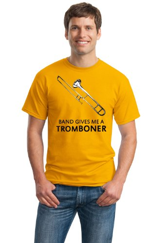 BAND GIVES ME A TROMBONER Unisex T-shirt / Band Humor Funny Geek Trombone Tee