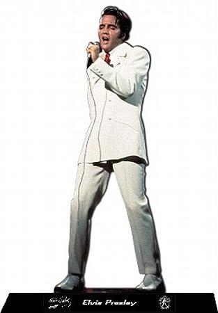 Escultura de fotos de Elvis Presley con traje blanco: Amazon ...