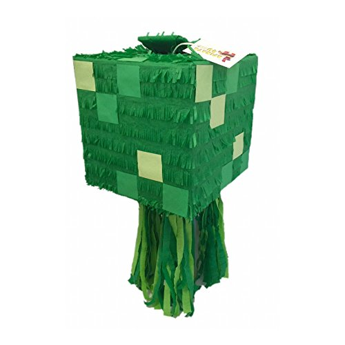 APINATA4U Green Box Pinata Handcrafted Custom Fully Assembled Ready to USE -
