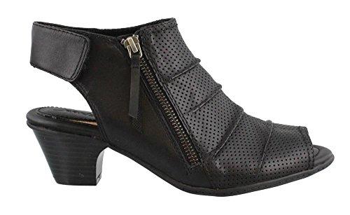 Leather Mid Heel Sandals - 7