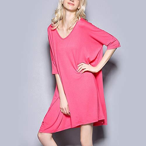 notte Pink Allattamento pigiameria Amabubblezing a V T da Gray seno Allentato Plus al Abito scollo Size allattamento L Size Color Camicia donna shirt wBn7qTwv