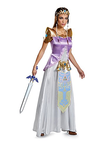 Disguise Women's Legend Deluxe Zelda Adult Costume, Multi, Small