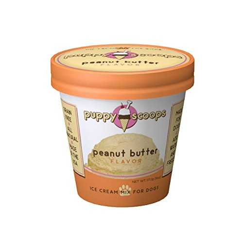 Puppy Cake Puppy Scoops Ice Cream Mix for Dogs: Peanut Butter - Add Water & Freeze at Home