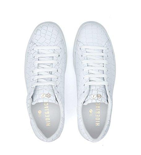 Bianco Croco Tuscany Hide Sneaker Bianca in amp;Jack Pelle w0AxpABt