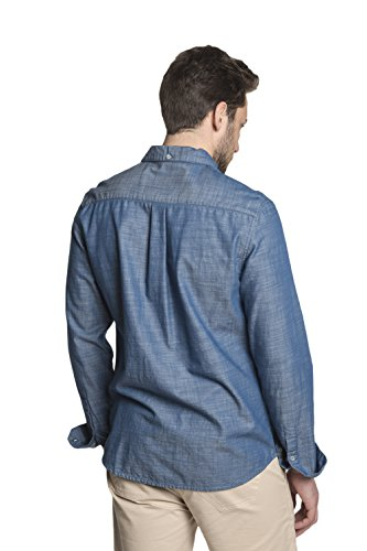7b6471b353c DISTILLED Men s Casual Long Sleeve Button Down Western Vintage Shirt Blue