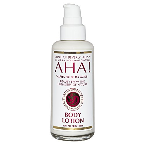 Lotion Body Alpha Hydrating (Nonie Alpha Hydroxy Face & Body Lotion - All Natural - Vitamins A, B, C & E - Coconut Oil - Citrus Scent - No Preservatives - 7 Oz)