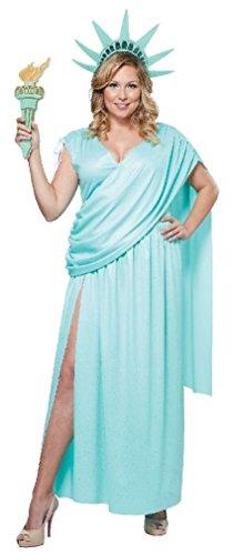 Fancy Lady Liberty Statue Costume Women Plus Size