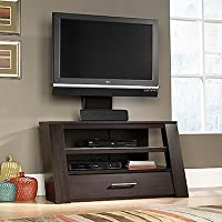 Sauder 414143 TV Stand With Optional Mount, Jamocha Wood Finish, Holds up to a 42 TV weighing 95 lbs. or less.
