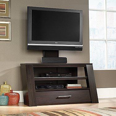 Amazon Com Sauder 414143 Tv Stand With Optional Mount Jamocha Wood
