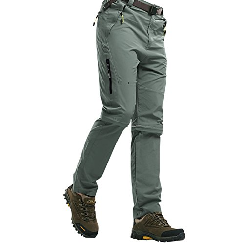Modern Fantasy Mens Casual Quick-dry Hiking Convertible Pants Detachable Shorts Size US L (Surplus Corduroy Pants)