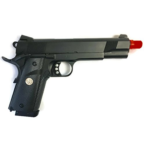 (BFT 1911 Elite Force MEU CO2 Airsoft Pistol Gun | Green Gas Powered Magazines Black on Black Series!)