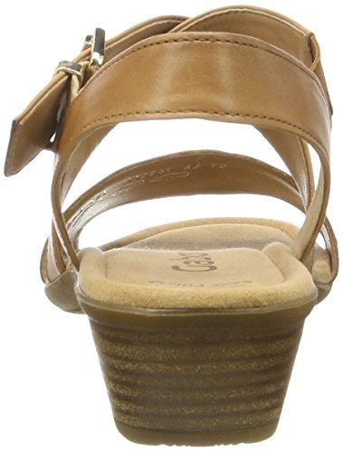 Gabor Shoes Fashion, Sandalias con Cuña para Mujer Beige (cognac 24)