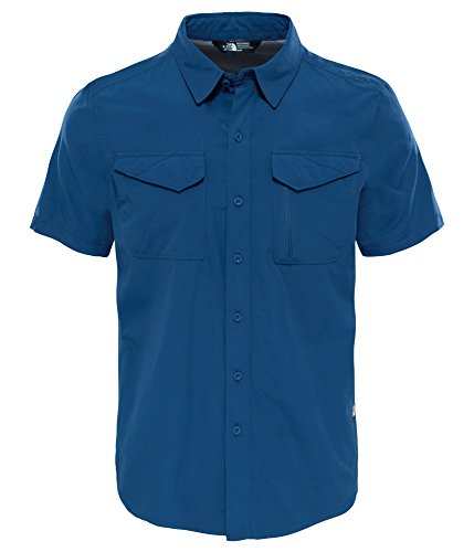 Homme The North Sequoia Face Courtes Blue shady Manches Chemise Bleu xqpqfZYPw