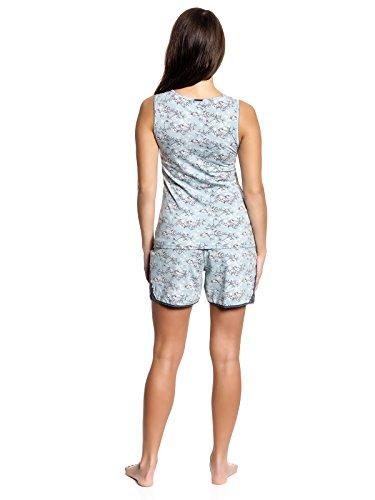 Vive Maria Little Bird Short Pyjama Kurz-Schlafanzug mint-melange/Allover-Print