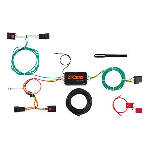 CURT 56297 Vehicle-Side Custom 4-Pin Trailer Wiring Harness for Select Land Rover Discovery Sport