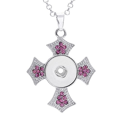 2017 NEW Crystal Alloy Pendant for Fit Noosa Necklace Snap Chunk Button A257