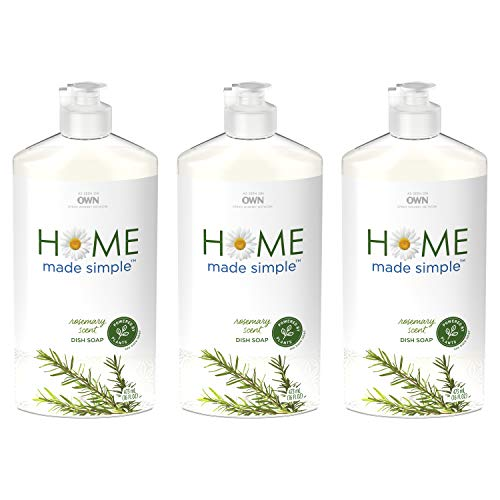 Home Made Simple Dish Soap Natural Dishwashing Liquid Plant Based, Rosemary Scent, 48 Fluid Ounce from Home Made Simple