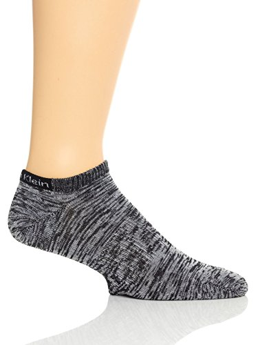 Calvin Klein Women's Athletic Logo Low-Cut Socks - 6 Pack, Charcoal Heather, Medium
