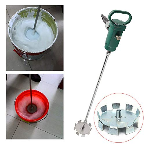 Pneumatic Automatic Paint Mixer,5/50 Gallon 1/2 HP 1/4HP Stainless Steel Pneumatic Mixer Paint Mixer Mix Tool for Viscous Liquid Ink Dye Chemicals Mixing Machine Blender Disperser (13-66 Gallon 1/4HP)