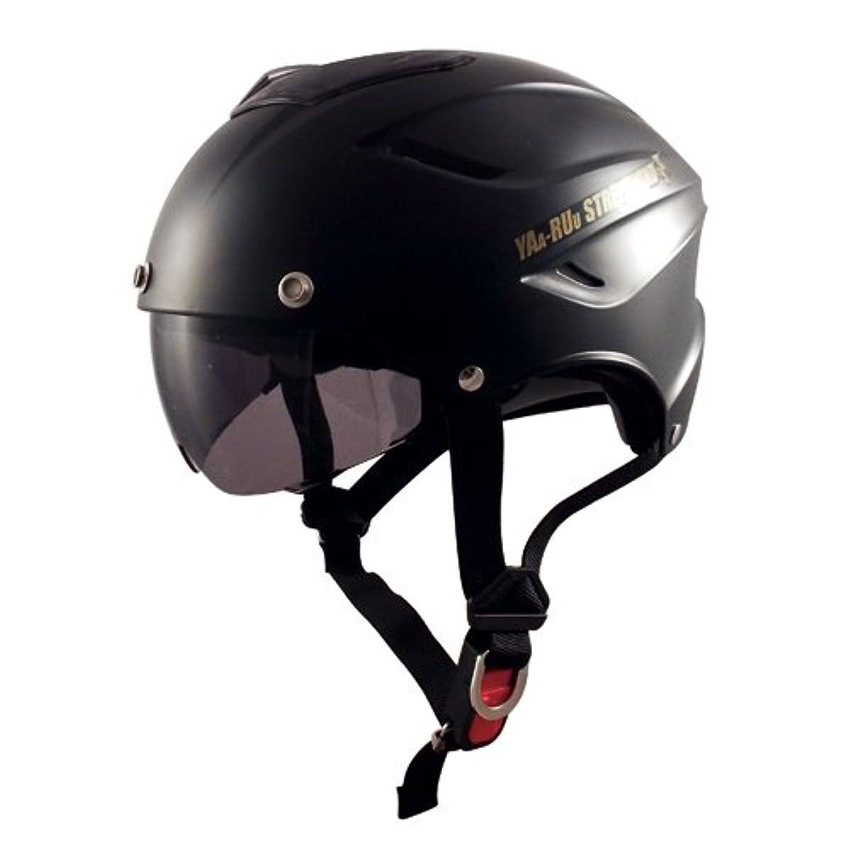 [해외] TNK공업 스피드 피트 허프형 헬멧 이너 바이저부 STR W 허프 매드 블랙 프리 사이즈(58-59CM) 51203.0