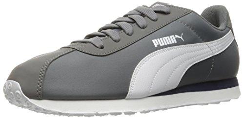 Puma Hombres Turin Nl Fashion Sneaker Acero Gris-puma Blanco
