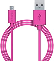 Micro USB Cable, Incipio [Soft Touch] Charge/Sync Cable-Pink