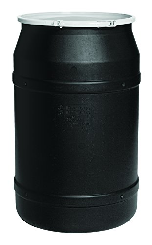 - Eagle 1656BLK Black Drum with Poly Lever Lock Ring, 55 gal Capacity