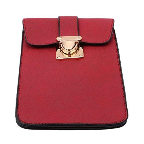 Clutch Women functional Handbag Phone Pocket For Red Multi Mini Bag Bags Purse Winwinfly Shoulder Ladies Small HqU0t0